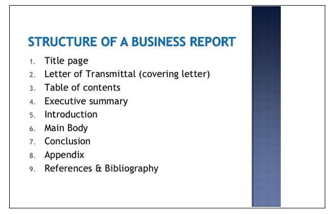 Business Report Struture