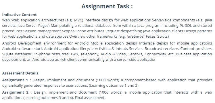COSE50586: Mobile Application Development Assignment sample