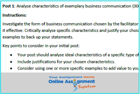 academic communication assignment answer