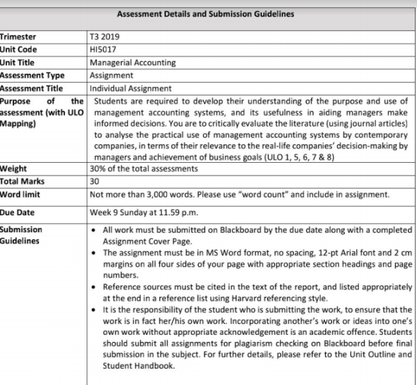 accounting for governance assignment sample