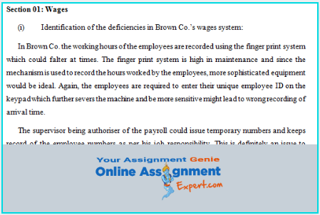 accounting standards and processes assignment answer