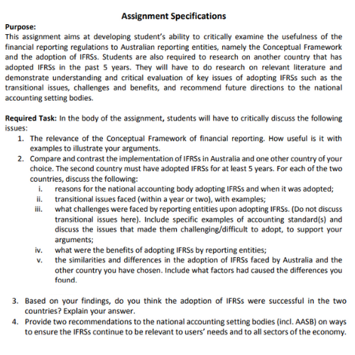 accounting theory and current issues assignment sample