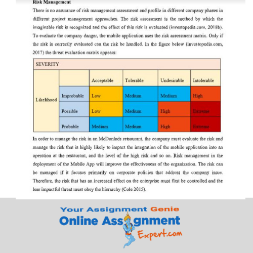 acquisition and restructuring assignment sample