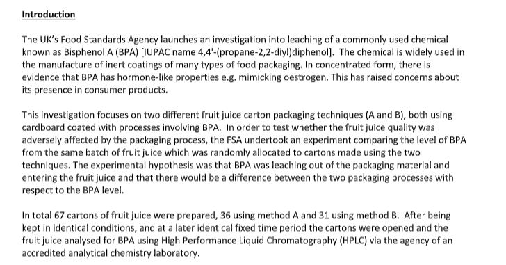 analytical chemistry assignment introduction sample