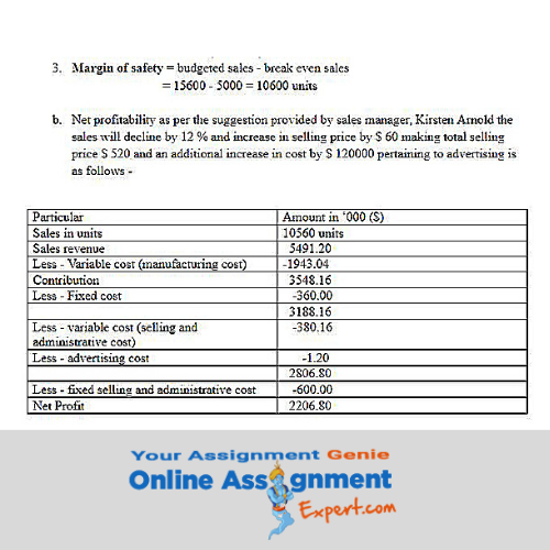 bachelor of accounting assignment solution