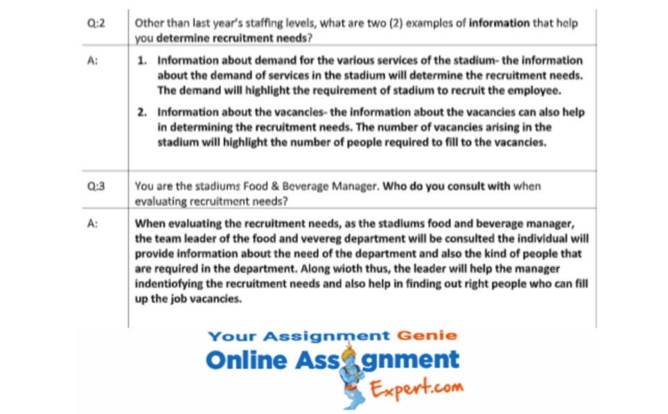 bachelor of tourism and event management assignment sample