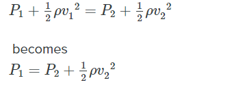 bernoulli's equation velocity analysis