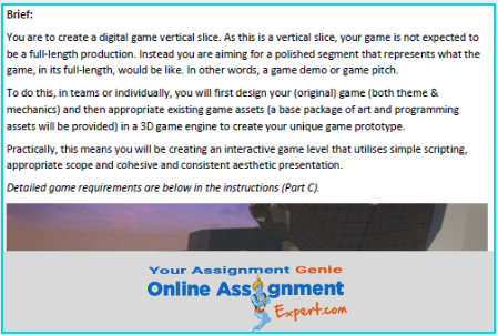 computer games design development assignment solution
