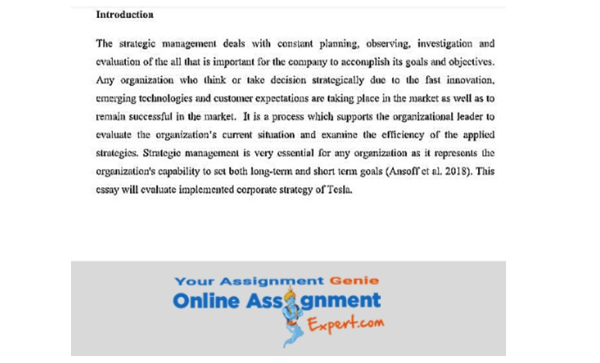 corporate strategy assignment answer