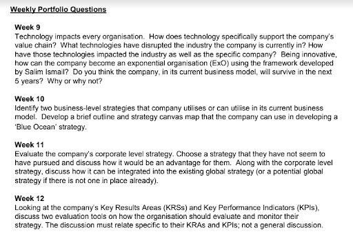 corporate strategy assignment sample