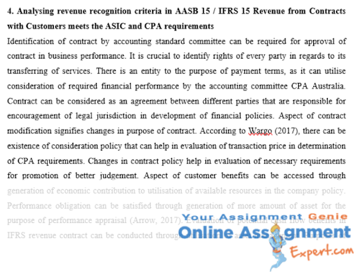 cpa program assignment example