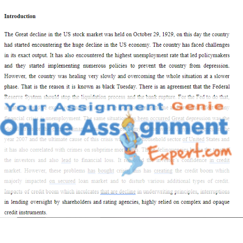 financial economics assignment sample