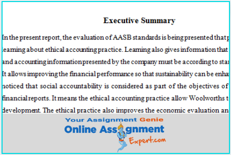 financial reporting assignment sample