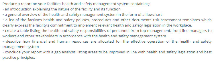 health and safety assessment question3