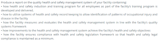 health and safety assessment question4