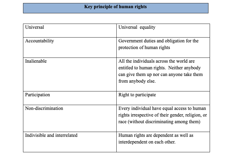 key principle of human rights