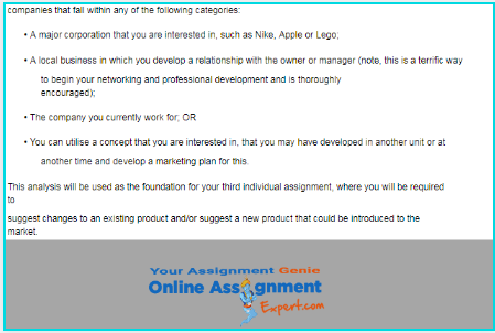 market analysis assignment solution