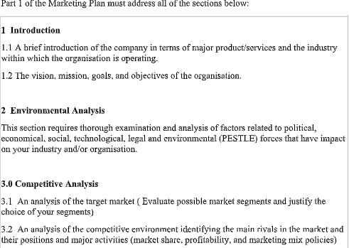 marketing orientation assignment question