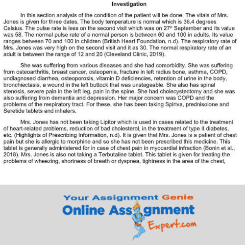 osteoporosis nursing assignment solution