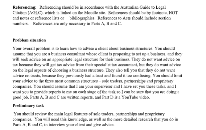 school law assignment question